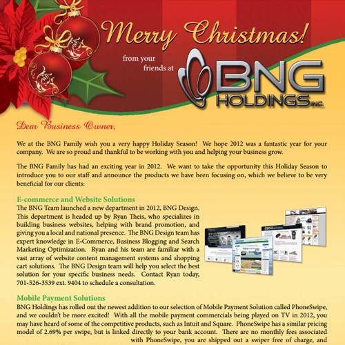 Holiday 2012 Newsletter